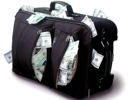 Большая сумма наличных денег