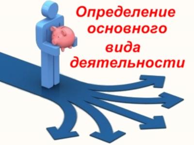 Определение основного вида деятельности