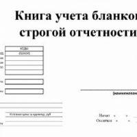 Порядок применения книги учета БСО